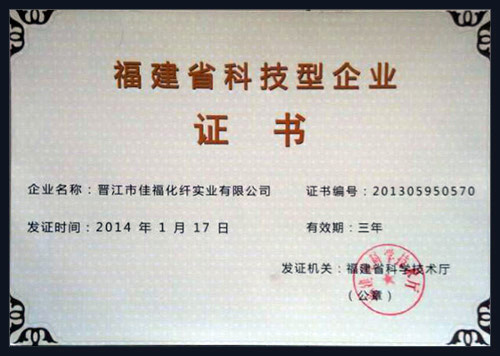 Fujian Science and Technology Enterprise Certificate